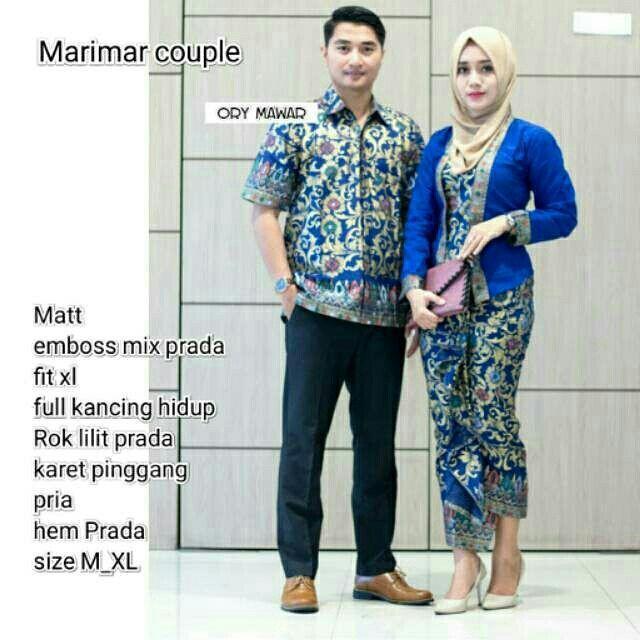 Batik couple / Batik kondangan / Batik moderen / Baju batik / Baju setelan / Batik