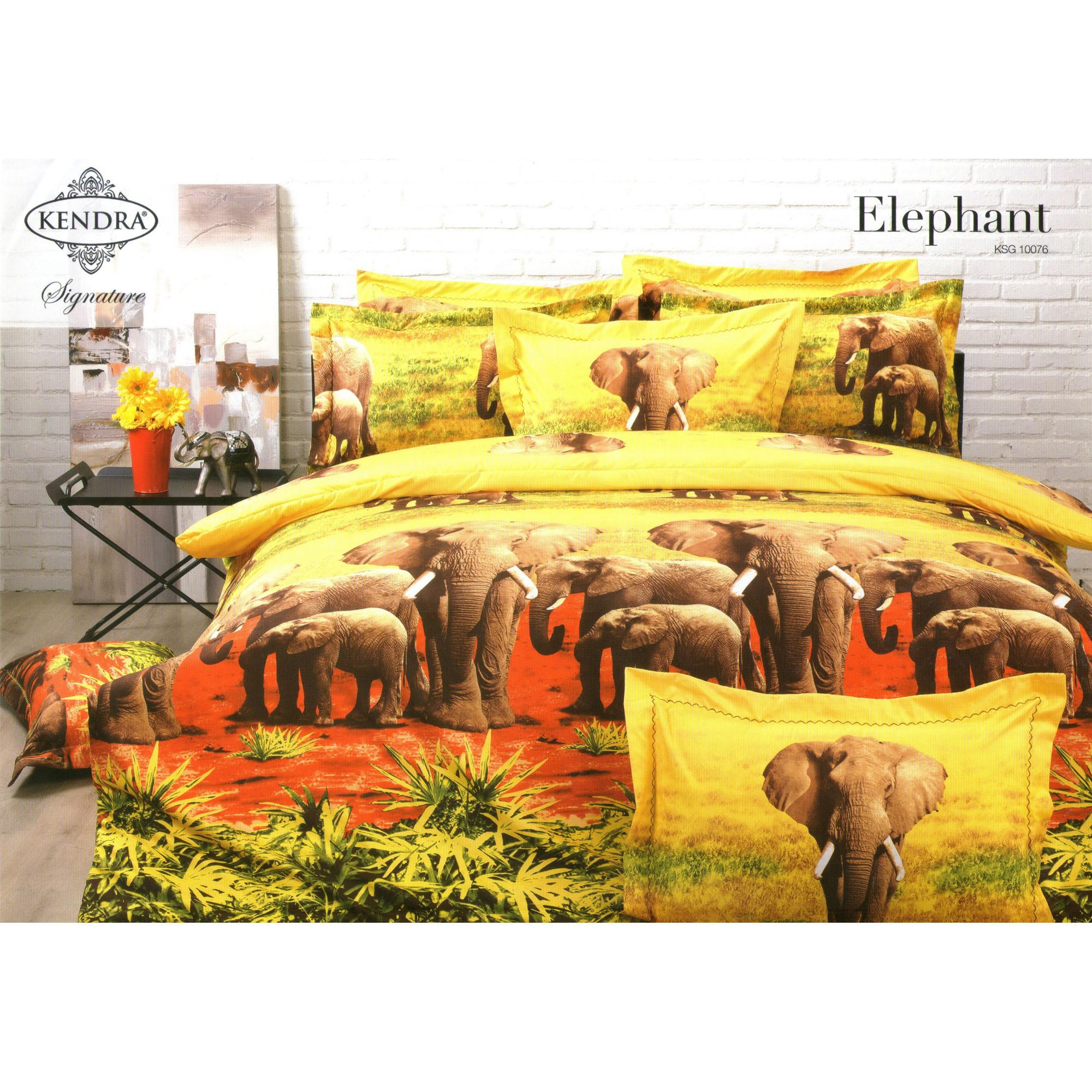 Buy Sell Cheapest Sprei Kendra Signature Best Quality Product Halus Sutra Set Elephant