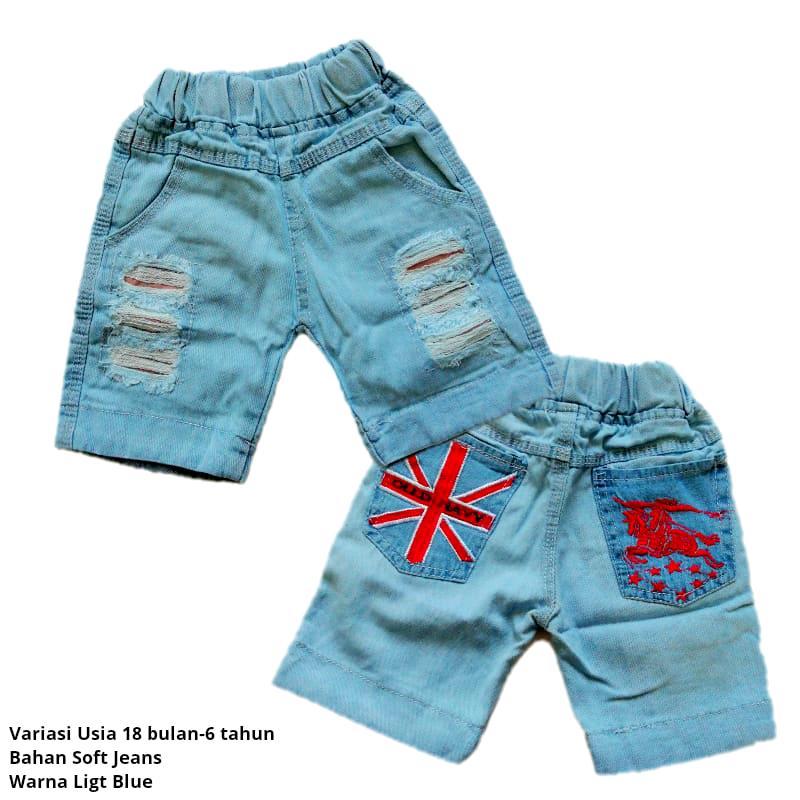 Celana Pendek Jeans Ripped untuk Anak