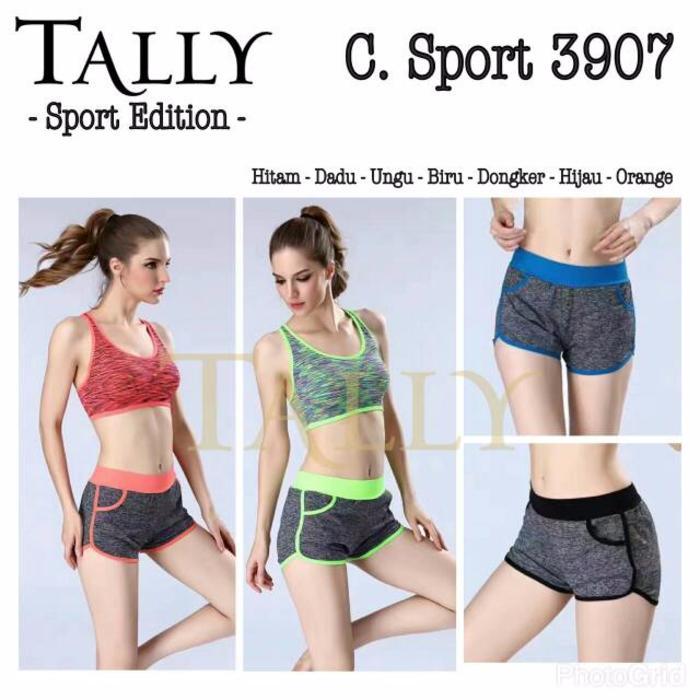 Celana Kode 3907 Tally Sport Edition - Celana Pendek - Celana Sport - Celana Senam Gym Zumba dan Aerobik - Random