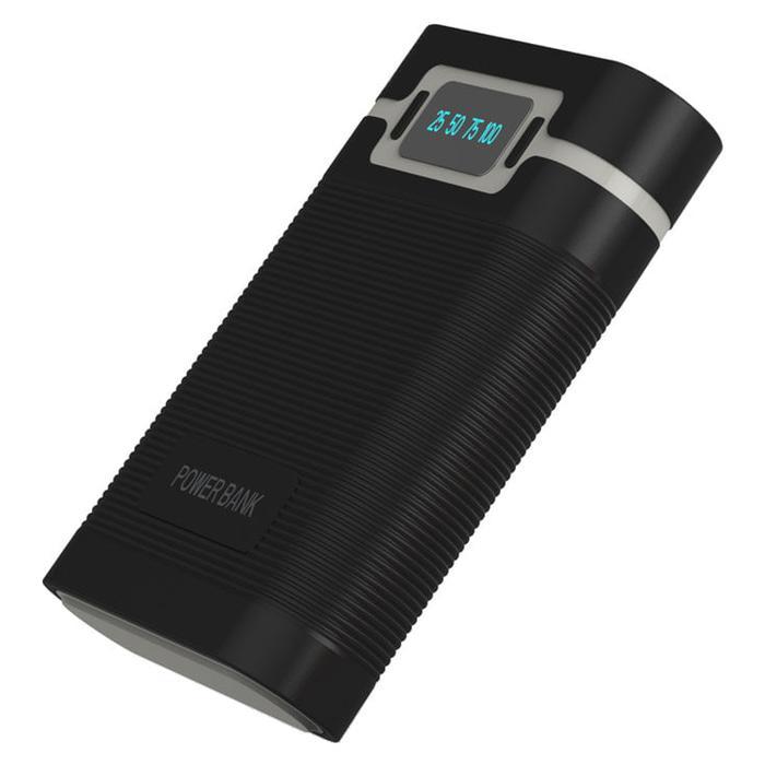 PROMO!!! PALING LARIS Taffware DIY Power Bank Case 2 USB Port & LCD 4x18650 - Black (Lagi Diskon)