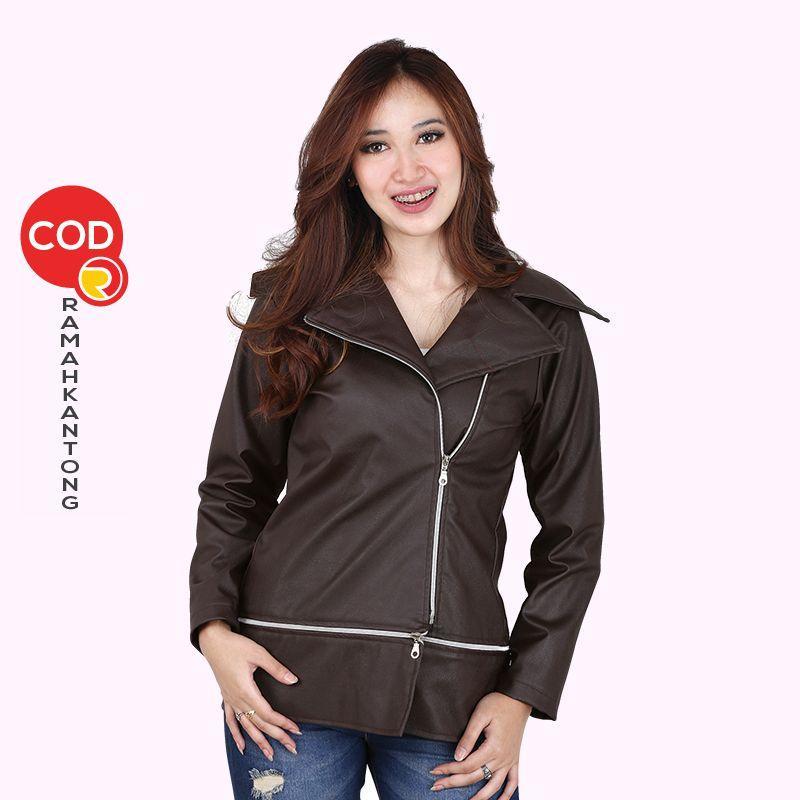 Price Checker Jaket Casual Wanita Coklat Catenzo NU 129-145 pencari harga -  Hanya Rp169 b433ad73f0