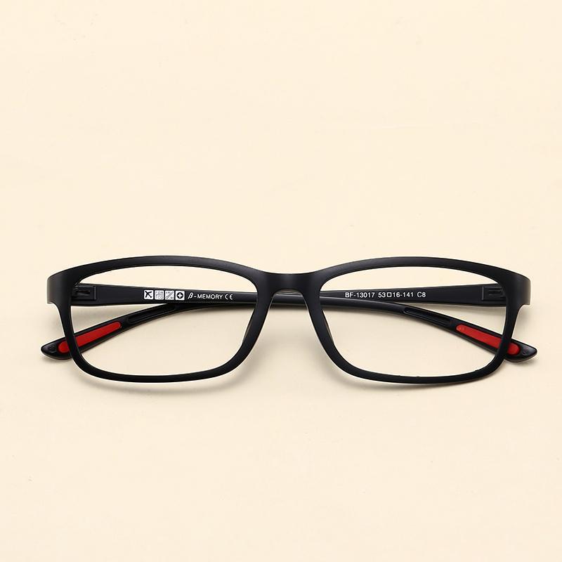 Bentuk persegi bingkai kacamata Pria dan wanita Gaya Korea pasang Retro  casual Sangat Ringan wajah bulat c5f1a50b1b