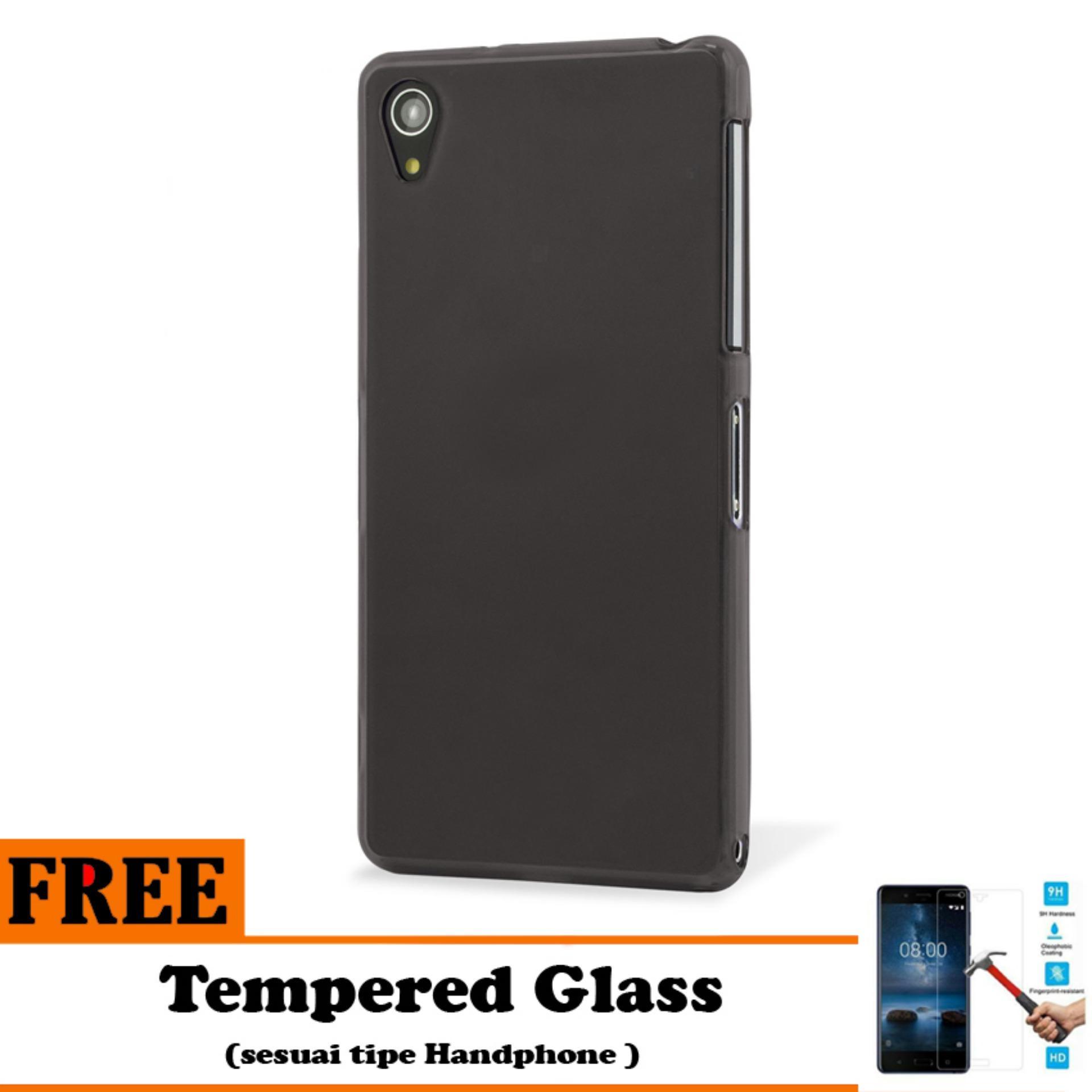 Barokah Premium  Slim Black Matte Shockproof Case for Sony Xperia Z2    - Free Tempered Glass