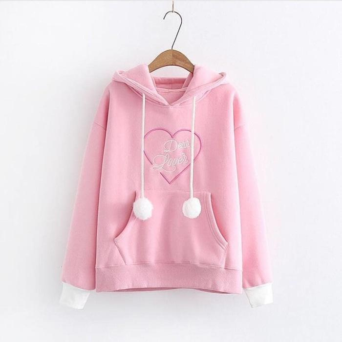 TERLARIS Sweater Fleece Remaja DEAR LOVER SWEATER Jaket