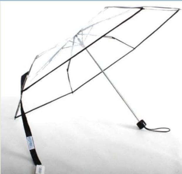 Payung LIPAT TRANSPARAN TABASA Bening Korea Jepang / Payung Trendy