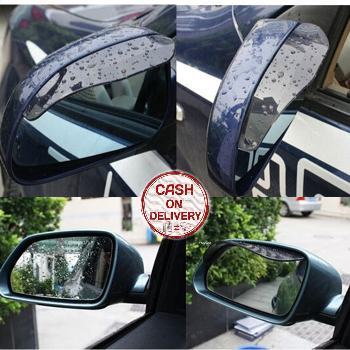 Kado Unik-- Mika Penutup Kaca Spion Mobil 1 Set Isi 2 / Car Cover Mirror / Talang Spion Mobil Anti Air Hujan / Pelindung Spion Dari Hujan / Mika Pelindung Spion / Penutup Kaca Mobil Murah
