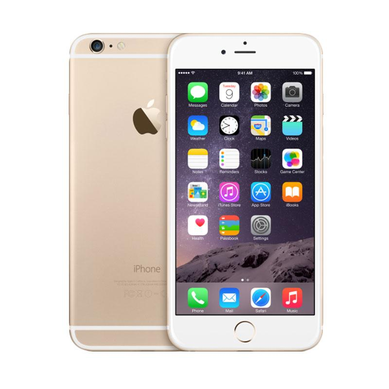 Apple iPhone 6 Plus 64GB Gold - Garansi 1 tahun