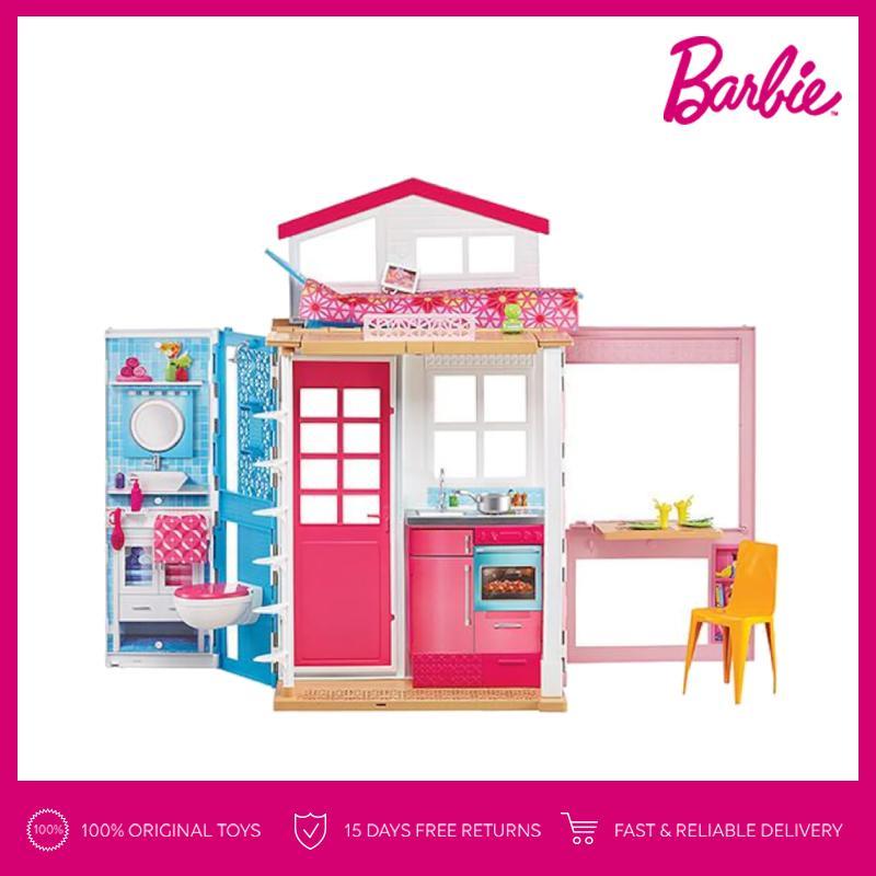 Barbie 2-Story House Rumah Boneka Permainan Toy Anak Perempuan c7f2999060