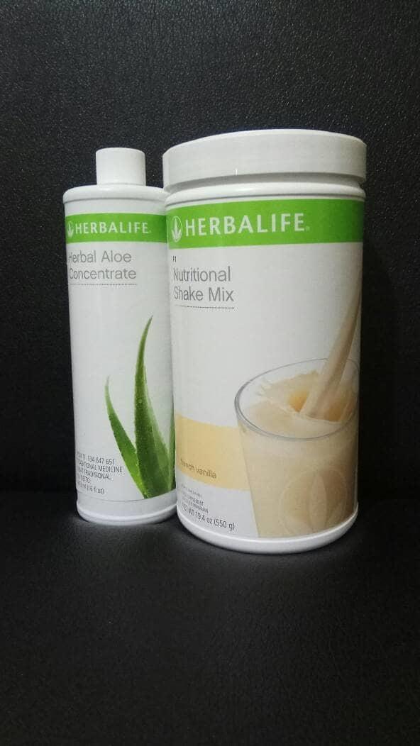 shake vanila+ herbal aloe concentrate
