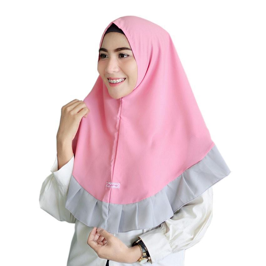 SIMPLE REMPEL/ Jilbab instan, khimar simple gamis syari wolfis Promo ruby bekasi banjarmasin bontang (fanta hitam)