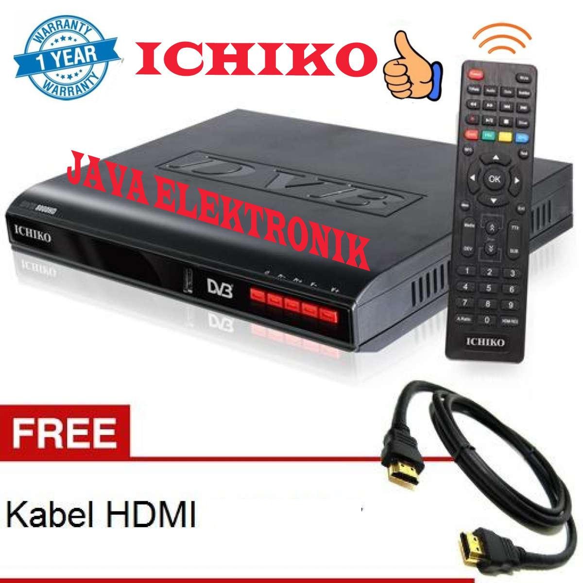 Ichiko DV 8000HD Set Top Box DVB T2 Tv Digital Receiver + Kabel HDMI & RCA garansi resmi