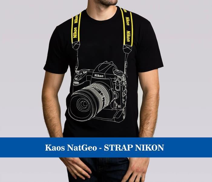 Kaos Baju Distro Murah Natgeo Photographer fotographer STRAP Nikon 3D - izpyQW