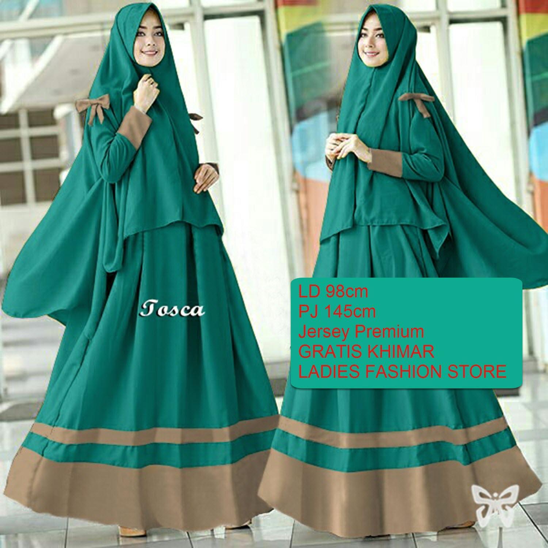 Gamis Wanita Muslimah GRATIS JILBAB / Gamis Lebaran / Gamis Panjang Syari / Gamis Syar'i / Dress Maxi Muslimah / Gaun Wanita / Baju Muslim 2in1 / Gamis Lebaran / Hijab Serut / Gamis Model Baru 2018 / Gaun Muslimah / Dress Tertutup (raay arisy) SS - TOSCA