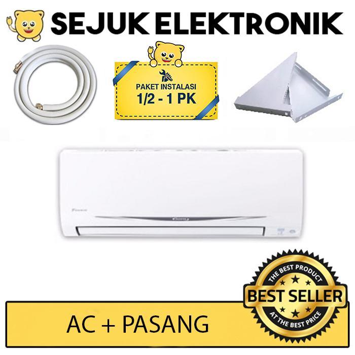 Daikin FTC15NV14 1/2 PK Super Smile Standart Thailand Putih + installasi (Free Ongkir Khusus JAKARTA)
