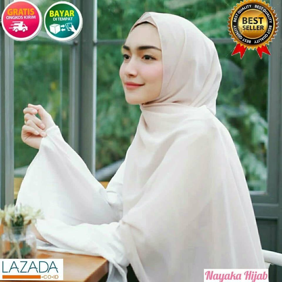 Nayaka - Jilbab Pasmina / jilbab lebaran / Hijab Pasmina Polos Basic Panjang / Jilbab Murah Diamond Italians / Diamond Crepe