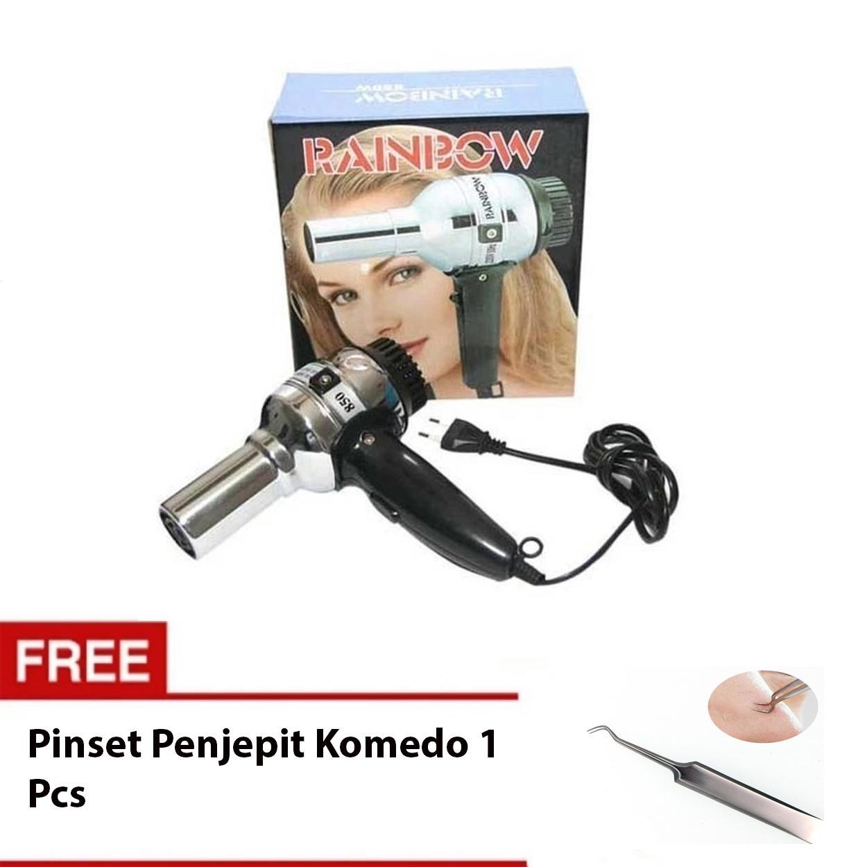 Rainbow Hair Dryer - Pengering Rambut Bundling Pinset Penjepit Komedo 1 Pcs