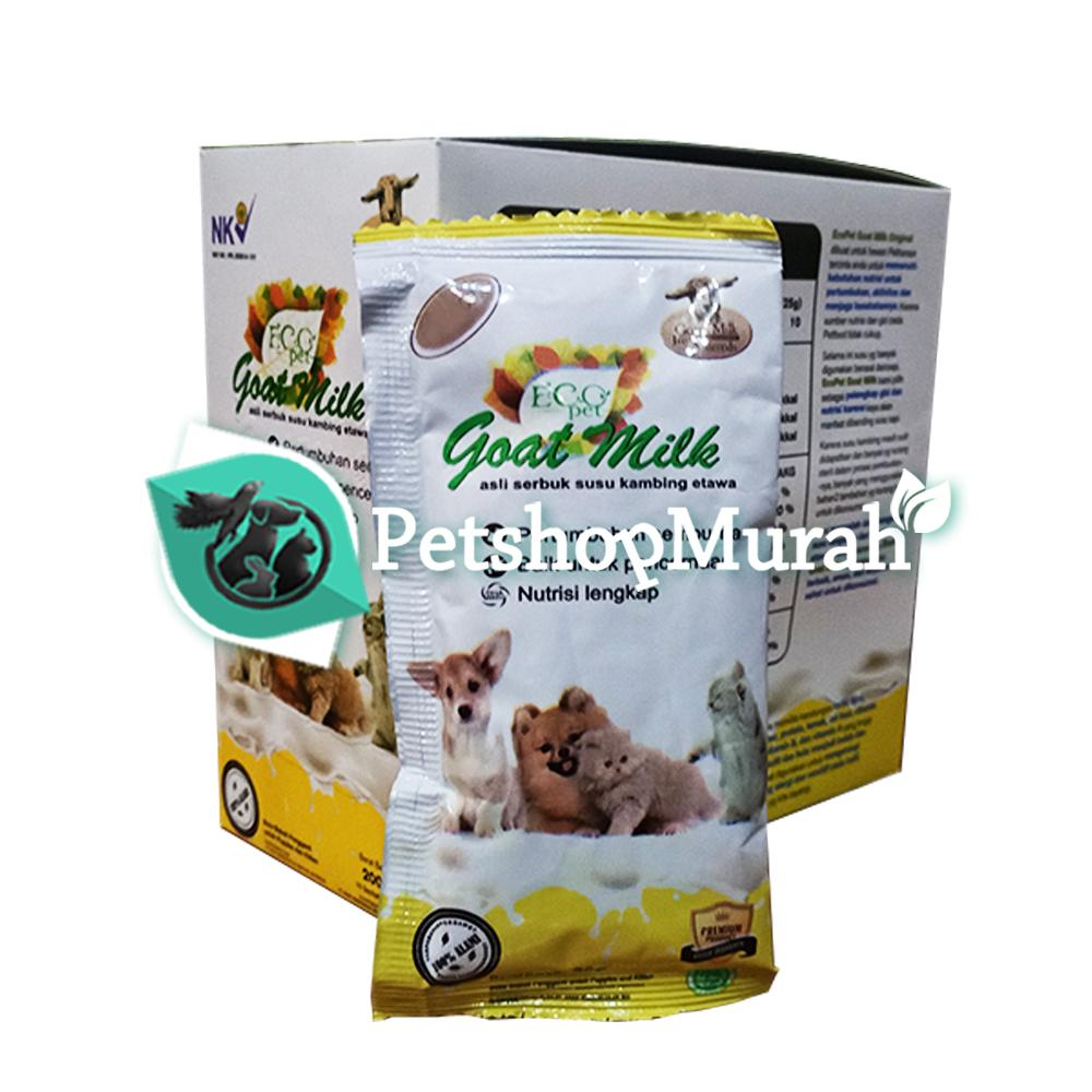 Susu Kucing Anjing Hewan Ecomilk Goat Milk Susu Kambing Eco Milk 20gr / 20 gram