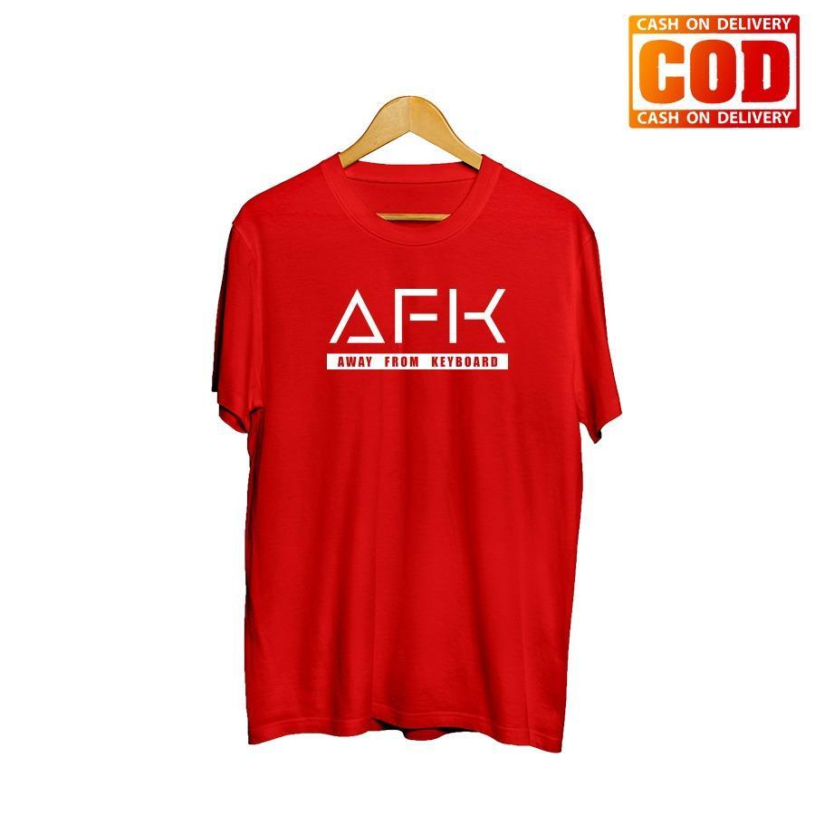 Kaos Premium KaosAjalah KAP / Baju Distro  / Tshirt Casual Pria Wanita / Fashion Atasan / Kaos Game Mobile Legend Dota2 AFK / Kaos Game 001