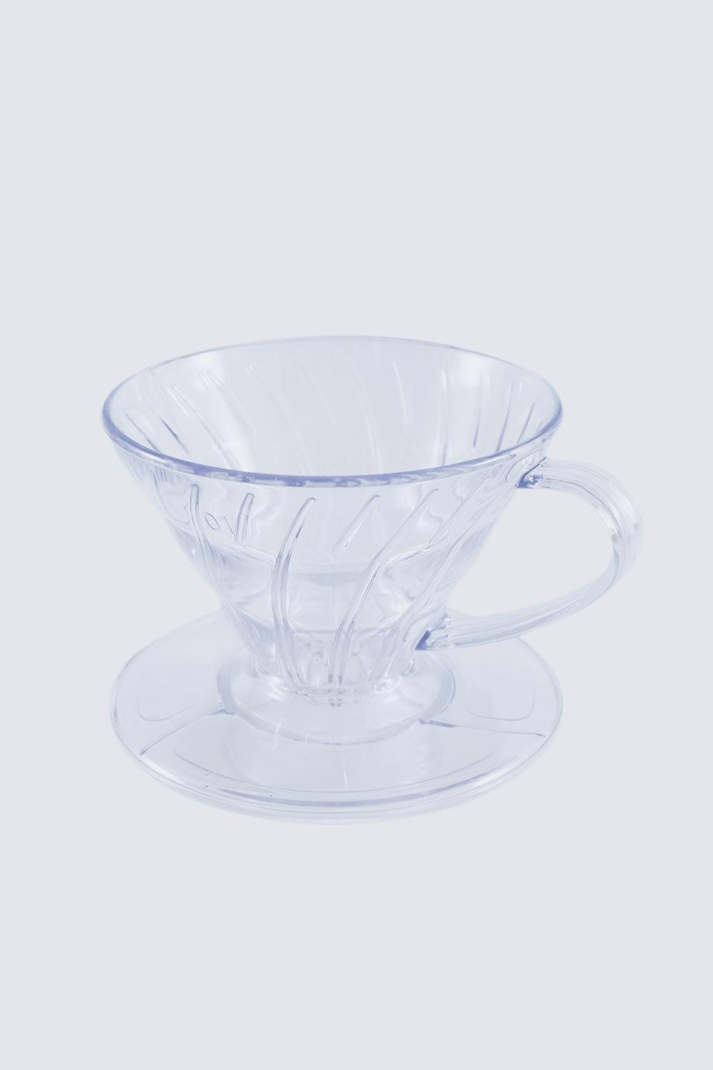 Dripper V60 Acrylic Transparant Size 01 Pour Over Dripper