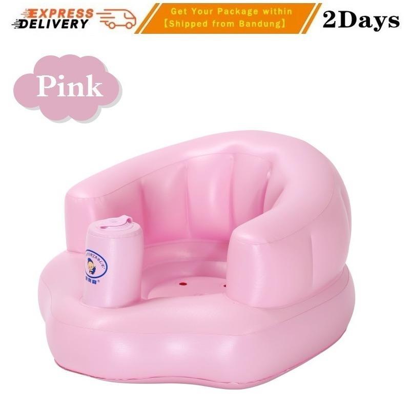 Kids Seat PVC Sofa Angin Bayi Kursi Makan Mandi Bayi Kursi Bermain Bayi Bangku Bayi Baby Chair Baby Inflatable Portable Bahan Lembut Ramah Lingungan