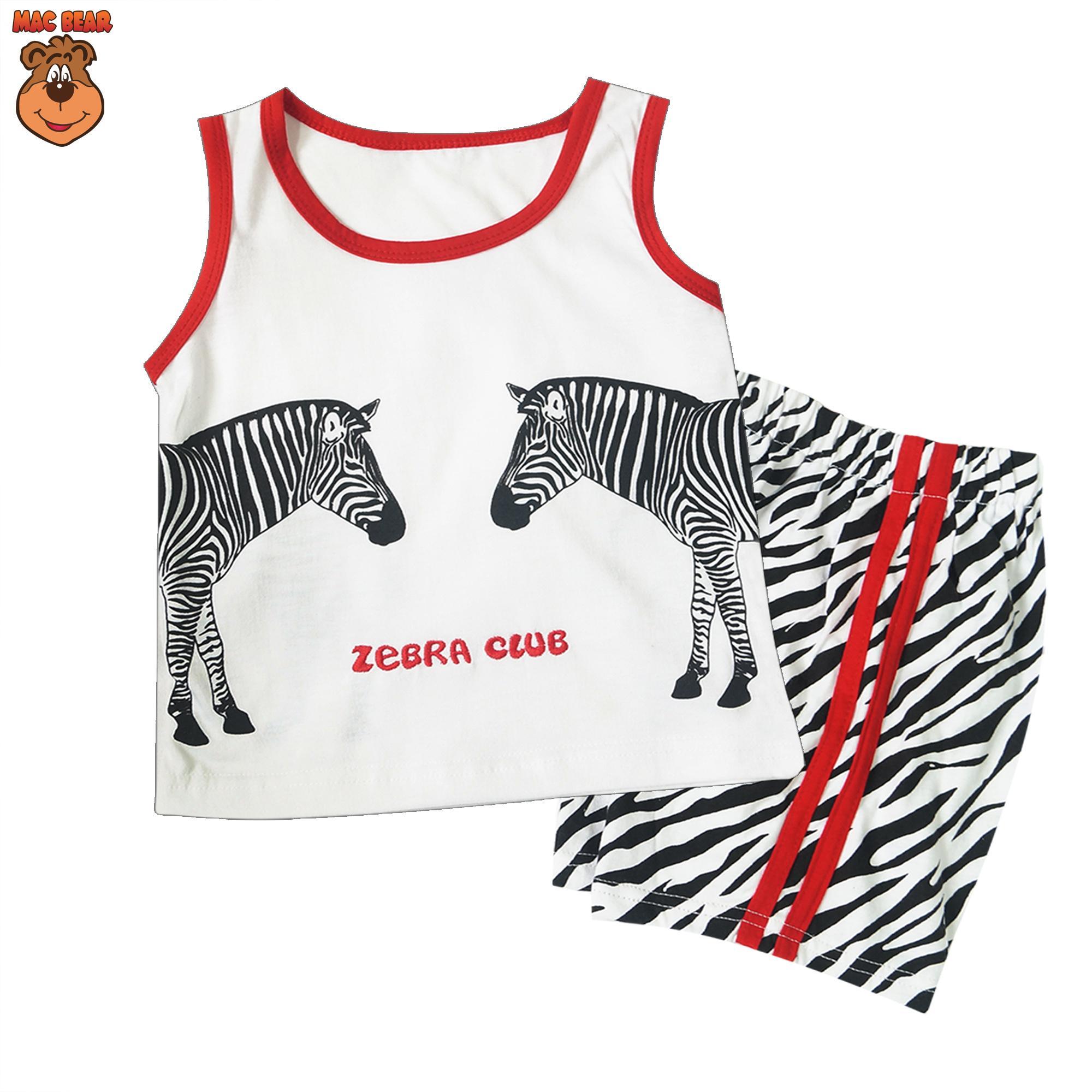 MacBear Kids Baju Anak Setelan Singlet Zebra Club