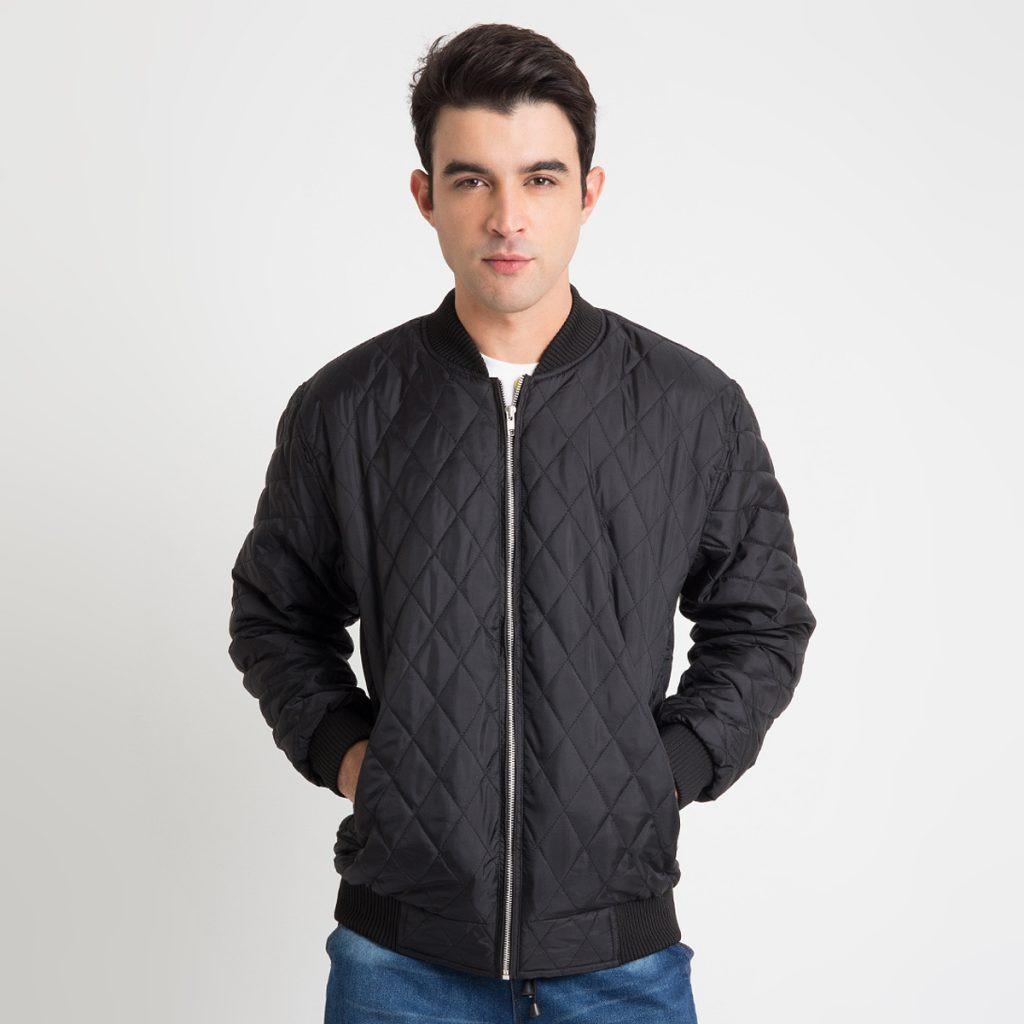 JUAL Jaket Dacron warna hitam - DACRON JACKET BLACK