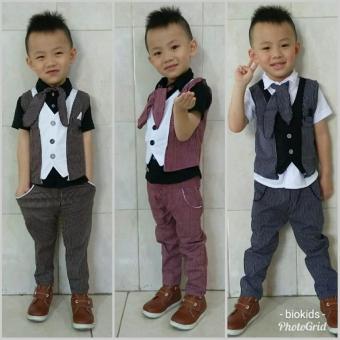 Pencari Harga Setelan Tuxedo 4In1 Elmer 1 tahun Rompi terbaru kekinian Baju Anak Cowok Baju Bayi