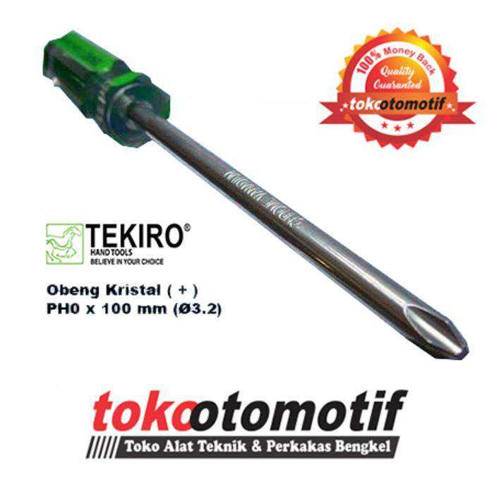 Obeng Kristal Plus (+) PH0 x 100mm (3.2) TEKIRO Japan | Plus