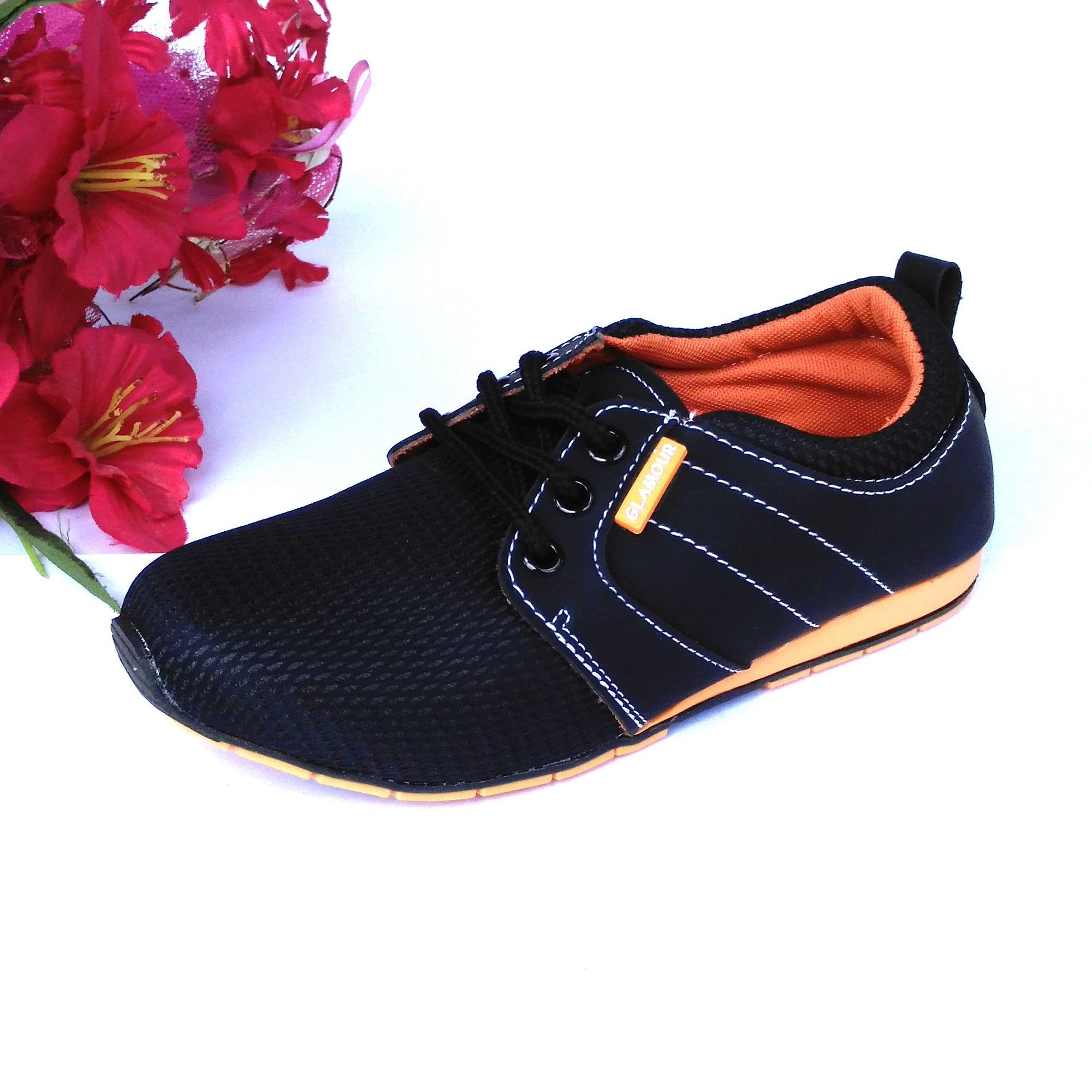 HQo Sepatu Sekolah Anak Perempuan Pantofel Hitam / Sepatu Sekolah Wanita Casual / Sepatu Sekolah TK