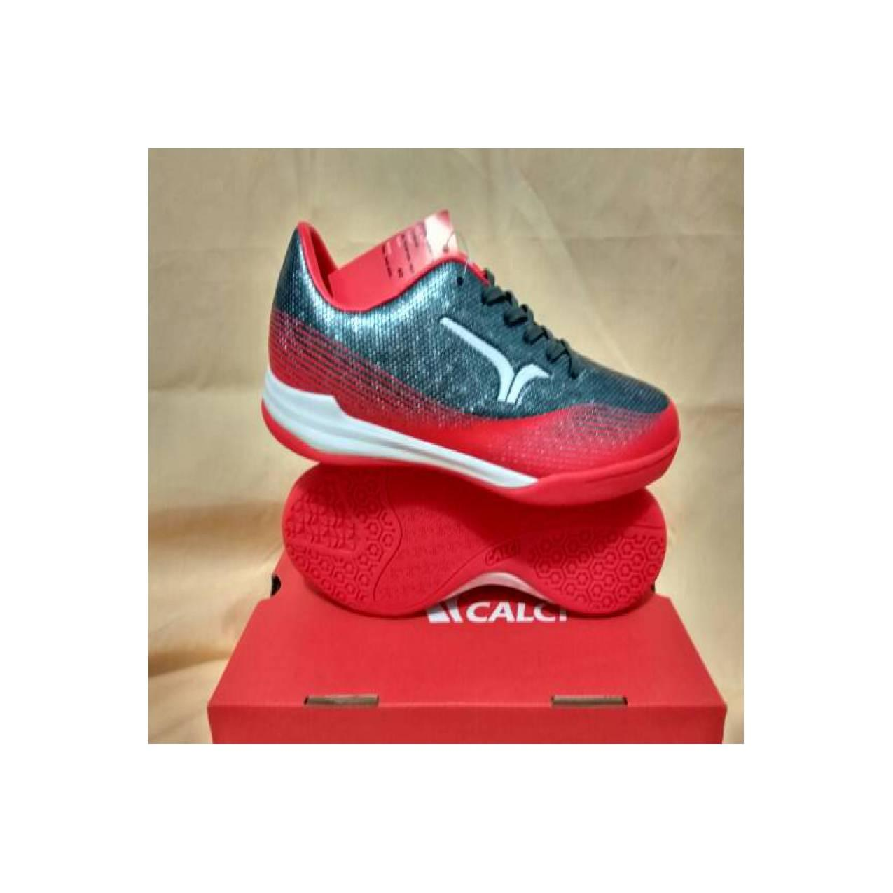 Sepatu Futsal Calci Conquest Futsal Metalic Pewter