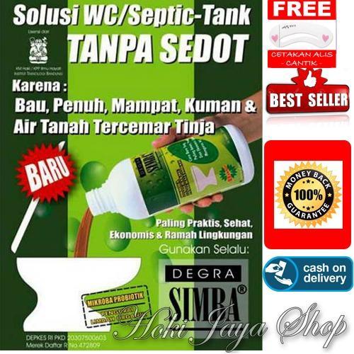 HOKI COD - Simba Degra Cairan Pembersih Septictank Solusi Murah - Septic tank & Mudah Untuk WC Mampet + Gratis Cetak Alis Cantik - Premium