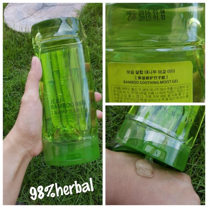 Ready Stock YES NOW JEJU BAMBOO 98% (BAMBOO SOOTHING MOIST GEL) JEJU