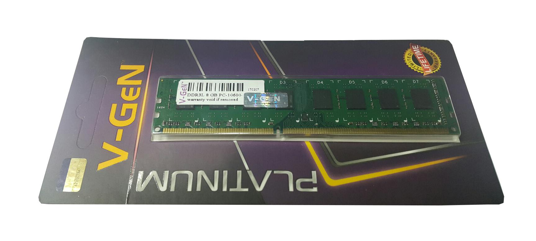 RAM DDR3 V-GeN 8GB PC10600/1333Mhz Long Dimm - Memory PC VGEN