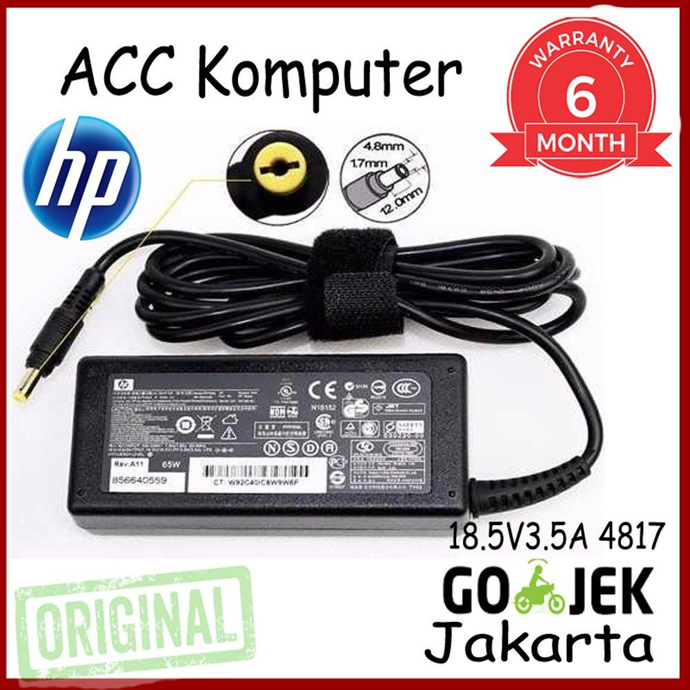 Buy Sell Cheapest Adaptor Hp 18 Best Quality Product Deals Charger Compaq 510 515 V3000 Cq510 Cq 185v 35a Original 5v3 5a 4817 Presario 2200 2800 B1000 B2000 B3000