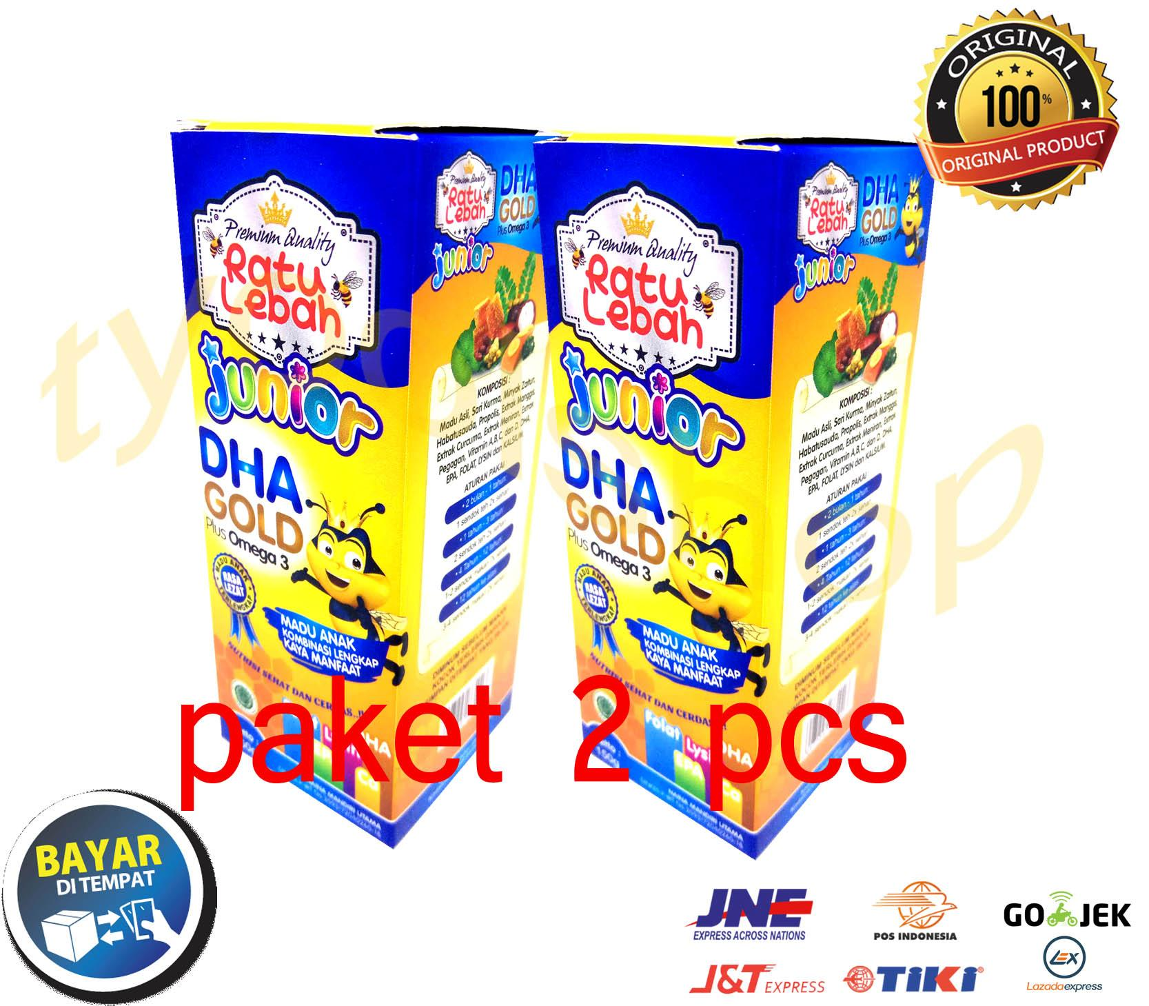 [ Paket 2 Pcs ] Madu Anak Ratu Lebah Junior Dha Gold Plus Omega 3 - 150gr By Tyoolshop.