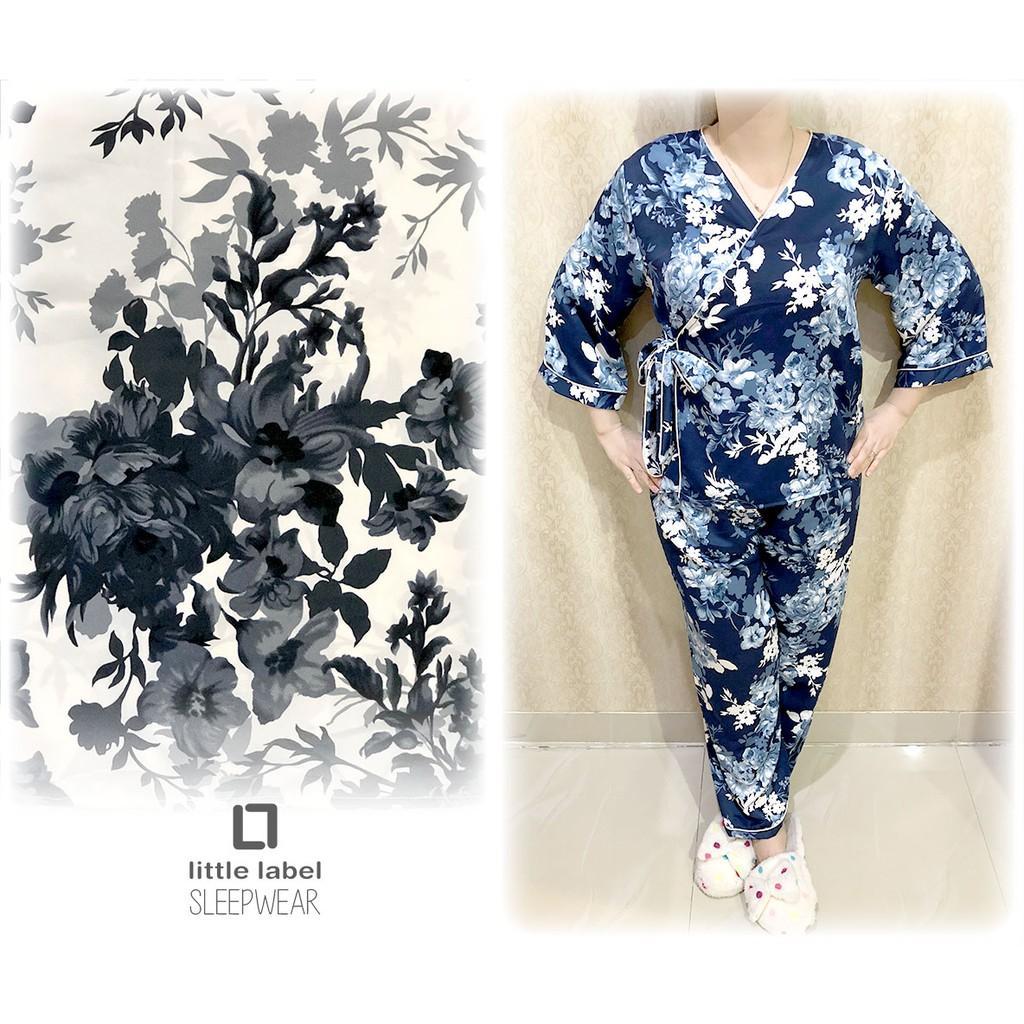 Baju Tidur Celana Panjang Kimono Uniflow Piyama Satin Wanita
