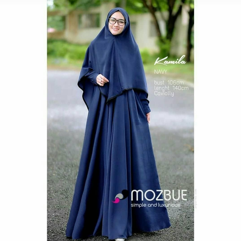 Baju Wanita Baju Gamis Baju Murah Baju Muslimah Baju Modern Kamila Syarii + Kerudung Khimar