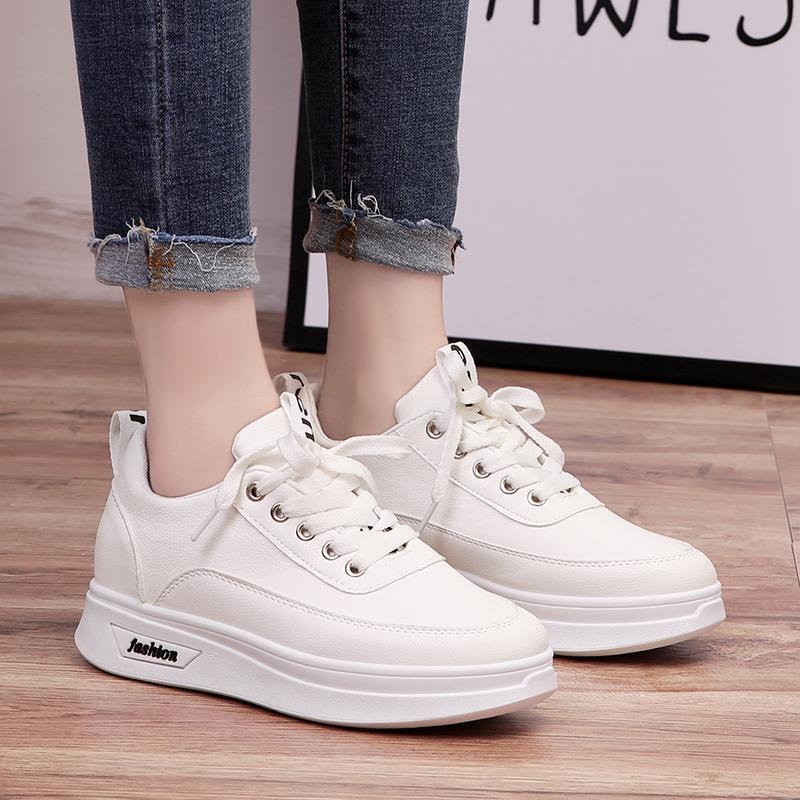 Ulzzang Panggul-Perhatian Modis Korea Gaya Perempuan Musim Semi Baru Kets Putih Sepatu Sepatu (Putih)