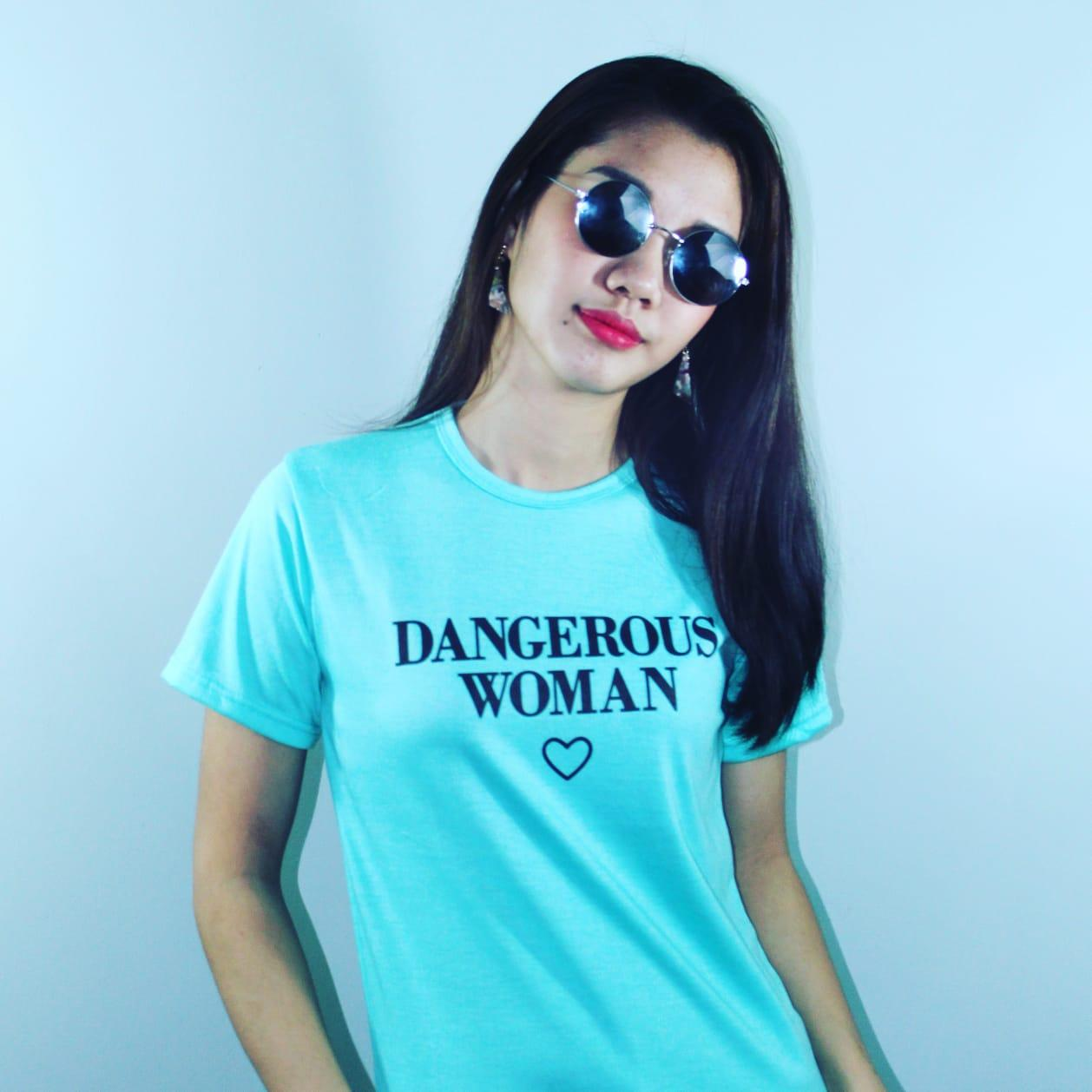 MIKAOS KAOS DANGEROUS WOMAN ALL SIZE FIT TO L