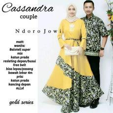 "Spesial Promo Batik Sarimbit Model Cassandra "" Kuning "" Best Seller"
