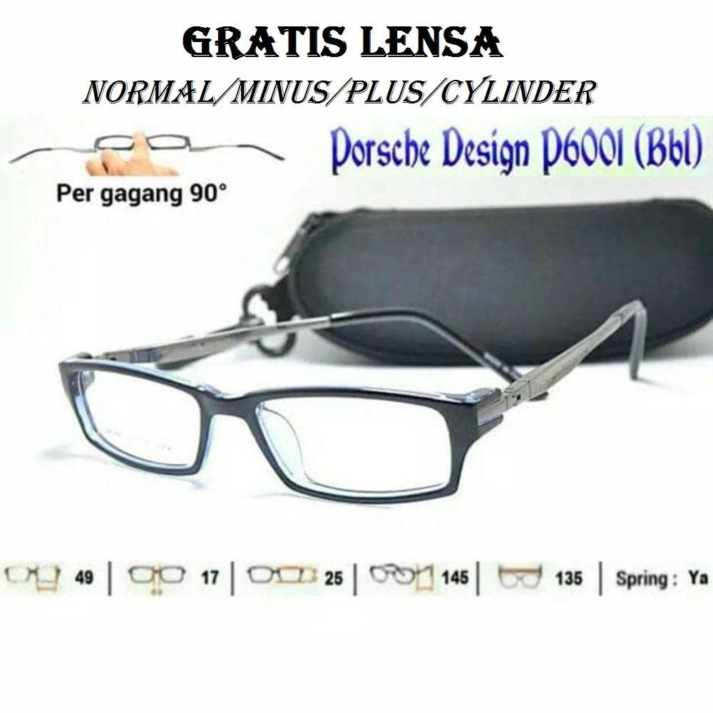 Oki_Store Frame Kacamata Pria & Wanita Pergas90 Normal / Baca / Plus / Minus / Cylinder Anti Radiasi Komputer