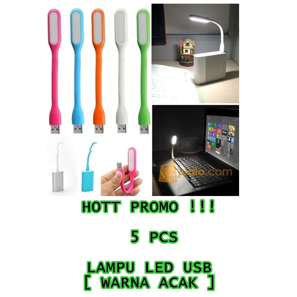 USB LED Light 5 pcs Emergency Flexible Portable Lamp Mini for PC Laptop Power Bank Adapter Charger USB Port - Lampu LED USB Senter Darurat Kecil Fleksibel Portabel Sikat Gigi [ barang bagus ]