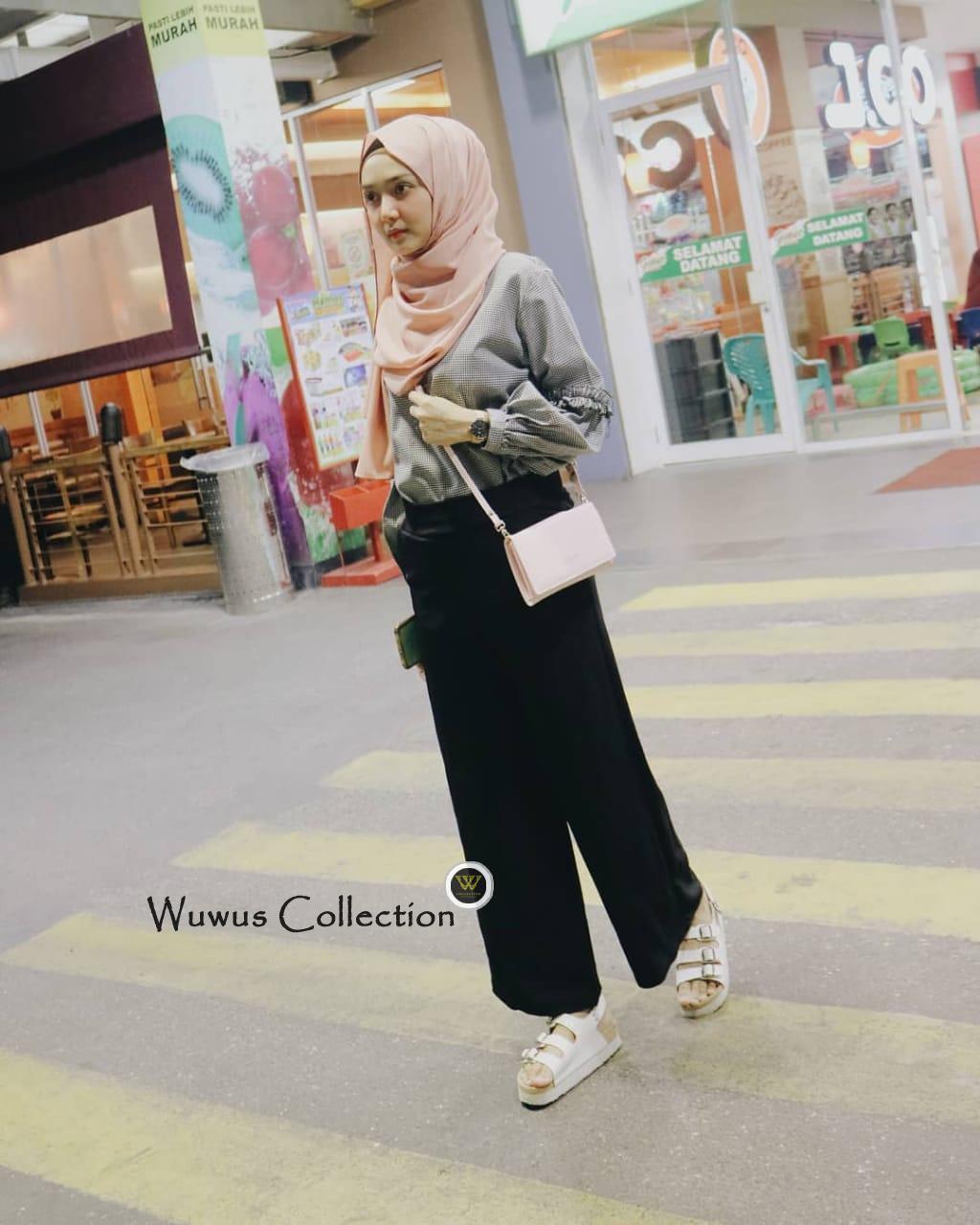 Buy Sell Cheapest Panjang Tao Crepe Best Quality Product Deals Celana Kulot Crep Millano Wuwusgrosir Bahan Tebal Hitam Trendy