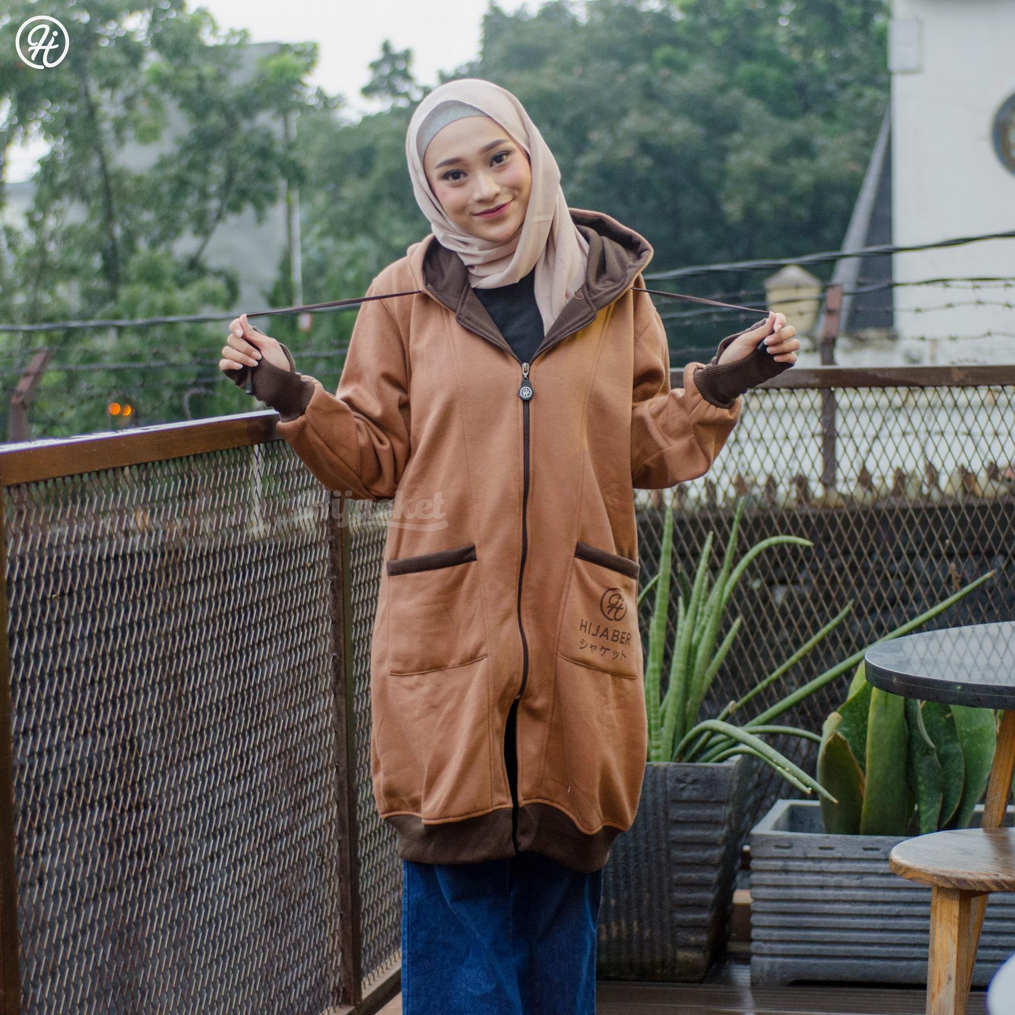 Jaket Sporty Japan Style Hijacket Brown Yukata