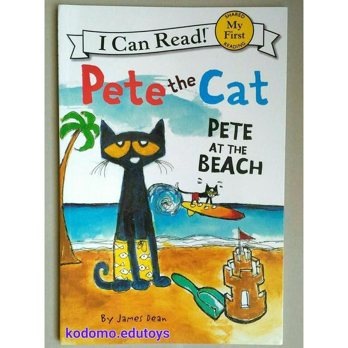 Pete The Cat -Pete At The Beach-My First I Can Read- Buku Import Anak - Kidsbook