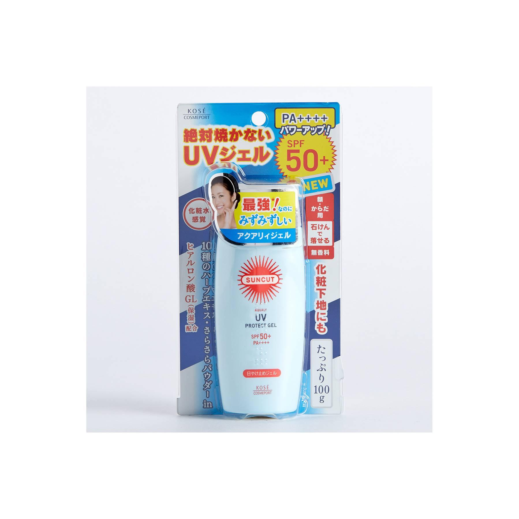 Japan Import Kose Cosmeport Suncut Aqualy UV Protect GEL SPF 50+ 100g