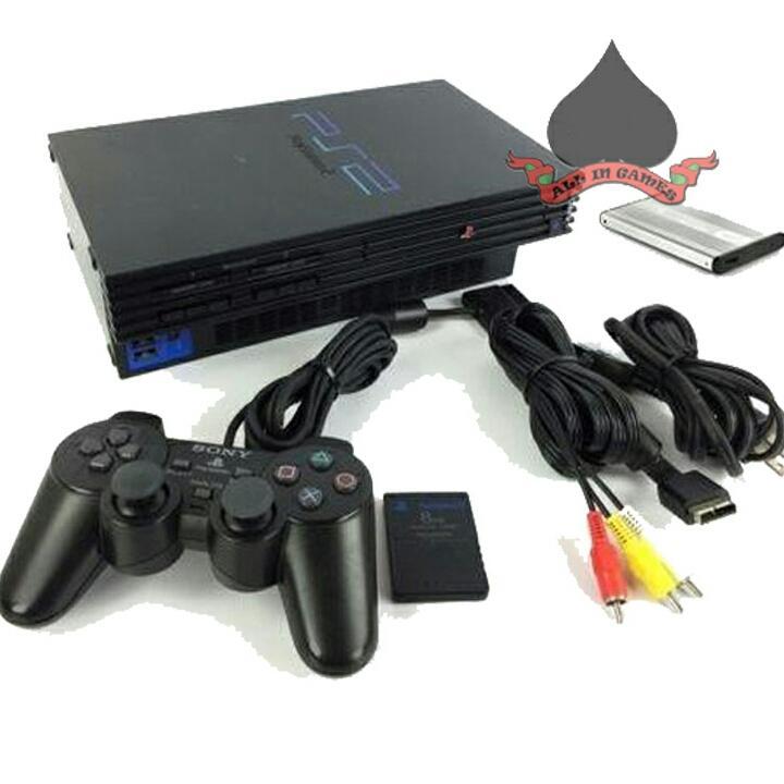 Sony playstation 2 hardisk 40gb bonus 50 game MURAH