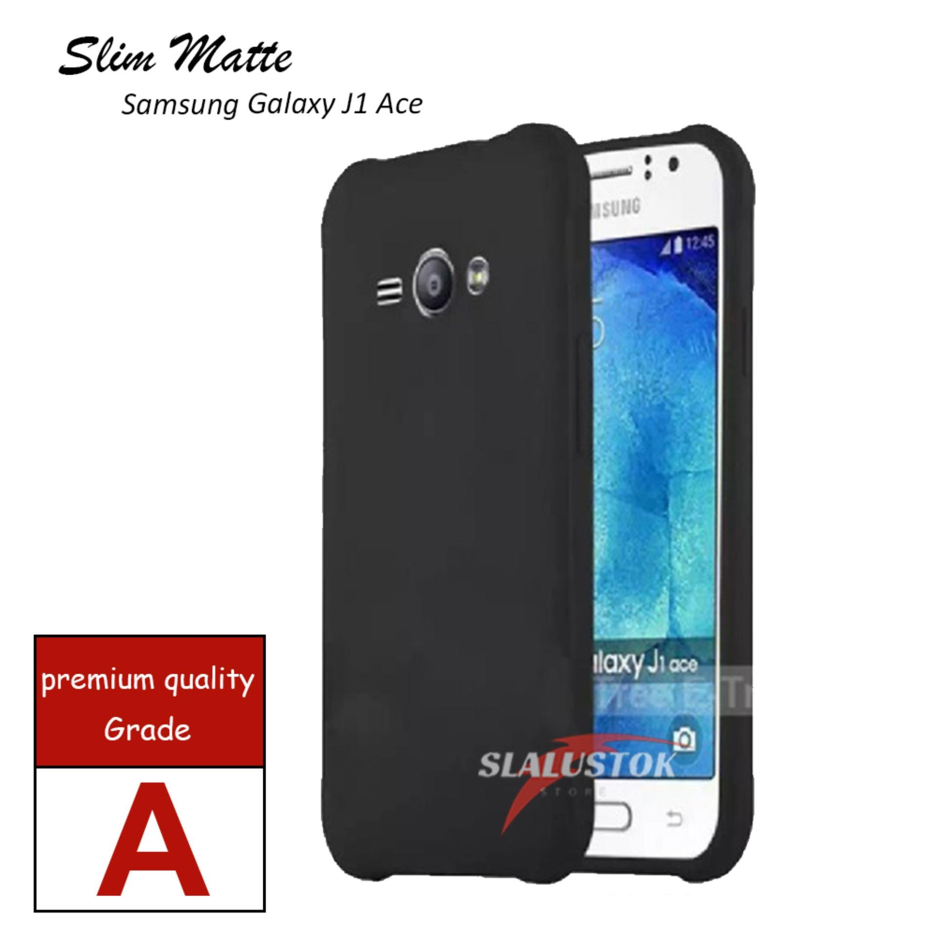Case Slim Black Matte For Samsung Galaxy J1 Ace  Baby Skin Softcase silikon Ultra Slim