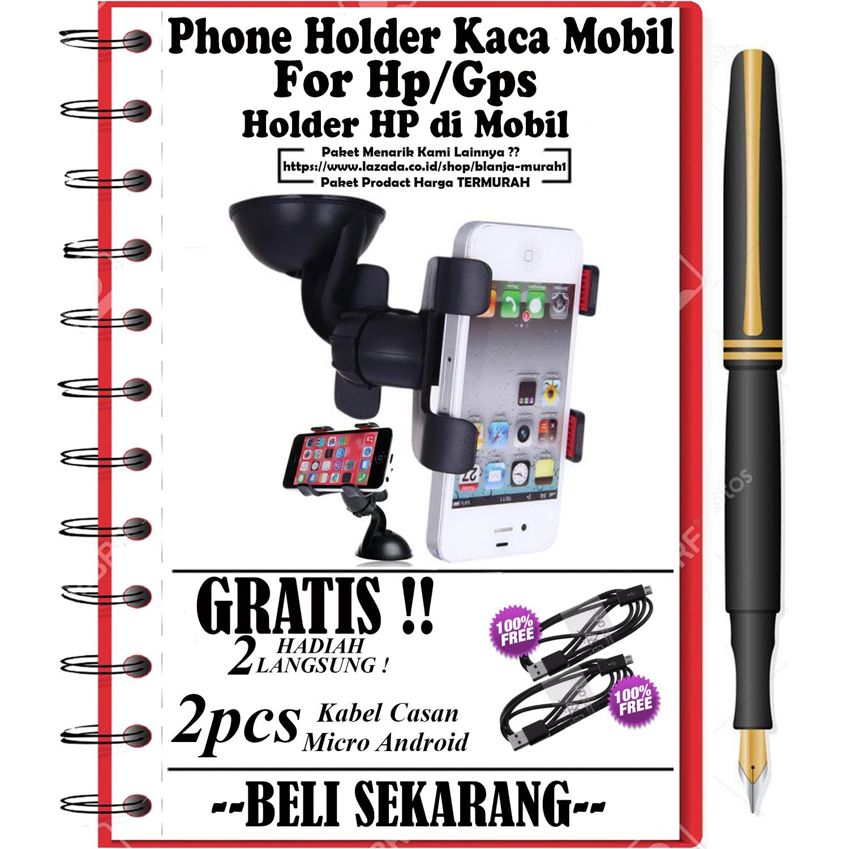 Mobile Accessories Phone Holder Perekat Gurita Hp Mobil Universal Untuk Gps Kaca Gratis 2pcs Kabel